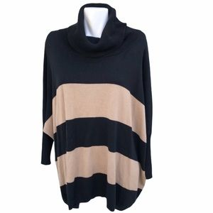 Vince Camuto Two Tone Oversized Cowl Neck …